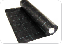 Black PP woven geotextile