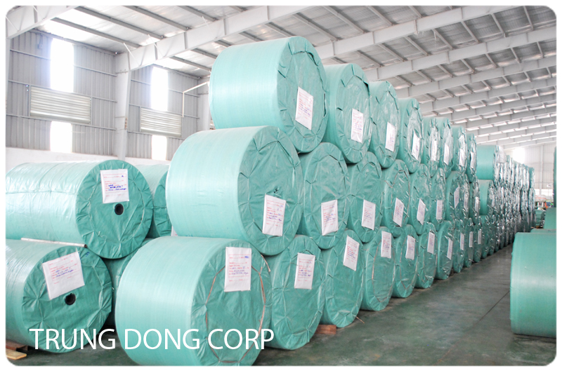 Woven PP roll for export